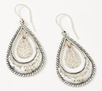 Or Paz Sterling Silver Pear Shaped Dangle Earrings