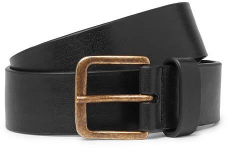 Dries Van Noten 3.5cm Black Leather Belt