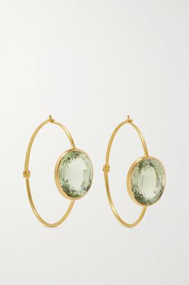 Marie Helene De Taillac Chimene 22-karat Gold Quartz Hoop Earrings