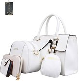 Donaword Women Retro Muti Purpose Office Work Pueather Handbag Set