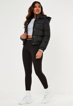 Missguided Black Puffer Jacket