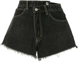 Ground Zero Wrap Front Denim Shorts