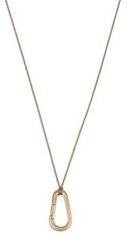 AllSaints Carabiner Pendant Necklace