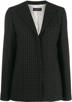 Piazza Sempione check tailored blazer