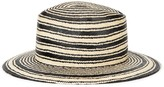 Rag & Bone Ivory And Black Straw Panama Hat