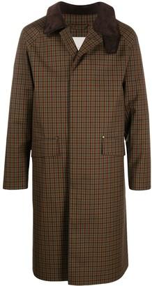 MACKINTOSH Checked Wool-Blend Coat