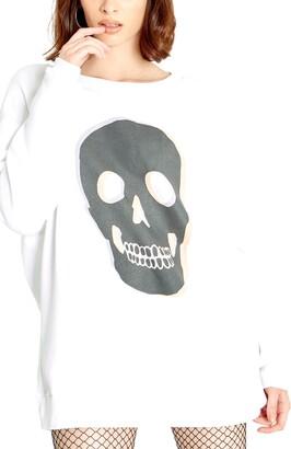 Wildfox Couture Roadtrip Skull Graphic Pullover