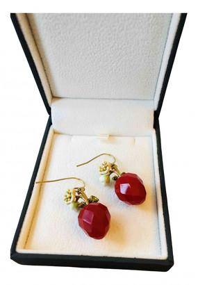 Les Nereides Red Crystal Earrings