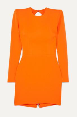 Alex Perry Kira Open-back Crepe Mini Dress - Orange