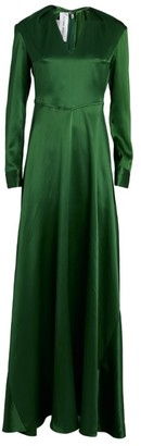 Victoria Beckham Silk Deep V-Neck Gown