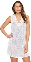 Women's Wearabouts Lace-Up Sheer Tunic Cover-Up