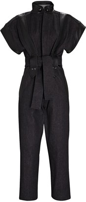 Dundas Cotton Tie-Waist Jumpsuit