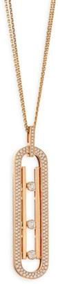 Messika Move 10th Anniversary Diamond & 18K Rose Gold Pendant Necklace