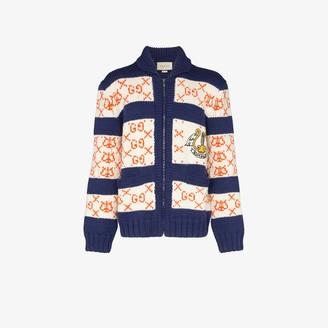 Gucci GG striped wool cardigan