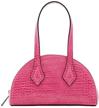 Who What Wear Carson (Hot Pink Croco) Handbags