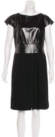 Chanel Leather Tweed Dress