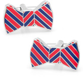 Ox and Bull Trading Co. Red and Navy Striped Bow Tie Cufflinks