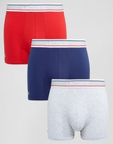 Lacoste Logo Trunks 3 Pack Multi