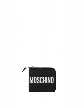 Moschino Leather Wallet With Logo Woman Black Size U It - (one Size Us)