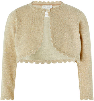 Under Armour Baby Niamh Cropped Sparkle Knitted Cardigan Gold