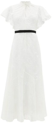 Erdem Celestina Embroidered-lace Cap-sleeve Gown - White