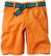 Chaps belted flat-front chino shorts - boys 4-7
