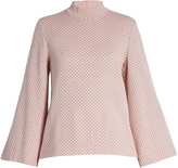 Emilia Wickstead Brigitta honeycomb-jacquard wool top