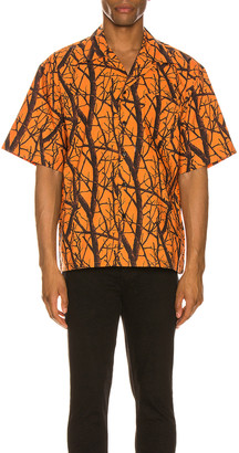 John Elliott Camp Shirt in Duck Club Orange   FWRD