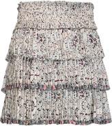 Isabel Marant Alicia pleated printed silk mini skirt