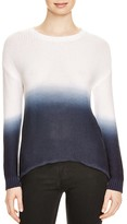 Aqua Cooper Dip Dye Slash Back Sweater