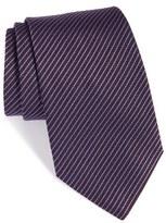 Armani Collezioni Textured Stripe Silk & Cotton Tie