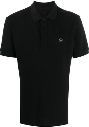 Philipp Plein Logo Print Polo Shirt