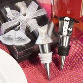 Fashioncraft Bride and Groom Wine Stopper Set