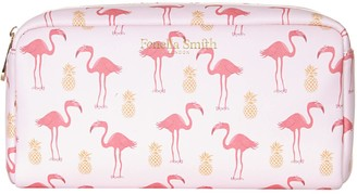 Fenella Smith Flamingo & Pineapple Vegan Leather Box Wash Bag