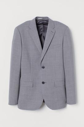 H&M Slim Fit Wool Blazer - Gray