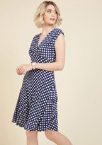 ModCloth Point of No Intern Polka Dot Dress in S