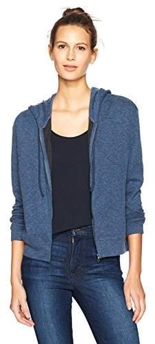 Majestic Filatures Women's Cashmere Double-Faced Long Sleeve Zip up Hoodie