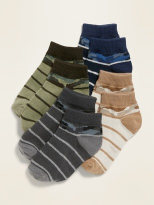 Old Navy Camo-Print Ankle Socks 4-Pack for Toddler & Baby