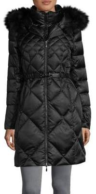 1 Madison Faux Fur-Trimmed Long-Sleeve Puffer Coat