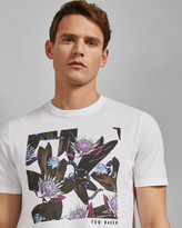 Ted Baker PORTION Snake print cotton T-shirt