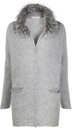 Fabiana Filippi Fur Collar Cardi-Coat