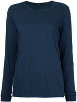 Bassike wide heritage french seam long sleeve T-shirt