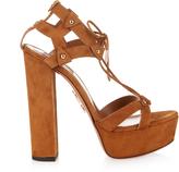 Aquazzura Bel Air lace-up suede sandals