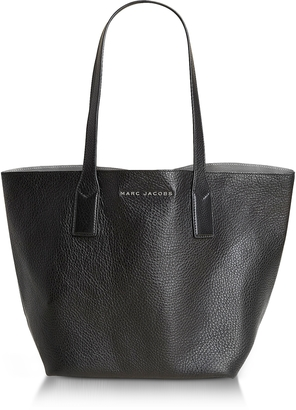 Marc Jacobs Wingman Black and Silver Leather Shopping Bag