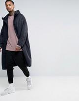 Asos Oversized Kimono Style Parka Jacket In Black