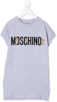 MOSCHINO BAMBINO logo print T-shirt dress