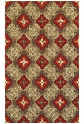 """Tommy Bahama Atrium Floral Flatweave Brown/Red Indoor/Outdoor Area Rug Home Rug Size: Runner 2'6"""" x 8'"""