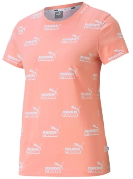 Puma Women's Plus Size Cotton Amplified Allover Logo-Print T-Shirt