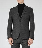 Reiss Charding B Check Weave Blazer
