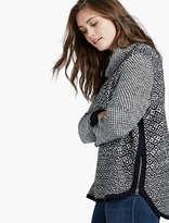 Lucky Brand Side Zip Pattern Sweater